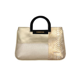 ESBEDA Medium Size Solid Cuero Armbag For Women,  gold