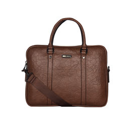 ESBEDA Solid Pattern Paperish Laptop Bag,  tan