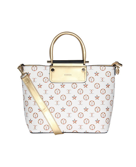 ESBEDA Printed Pattern Floral Printed Handbag For Women,  white