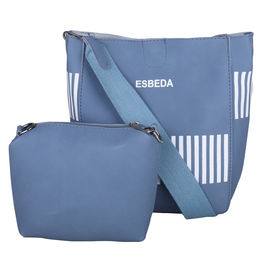 ESBEDA Solid Pattern Pastel Handbag with Pouch -1005021,  blue