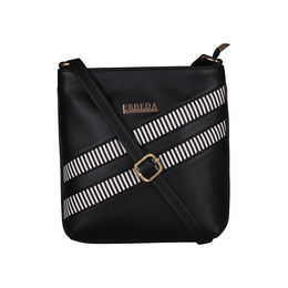ESBEDA Medium Size Rayon Slingbag For Womens-A00100042-43,  black