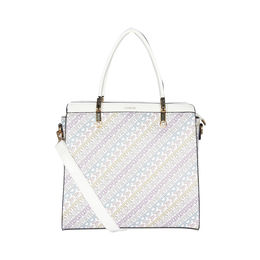 ESBEDA Printed Pattern Logo font handbag For Women,  white