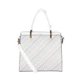 ESBEDA Printed Pattern Logo font handbag For Women,  white