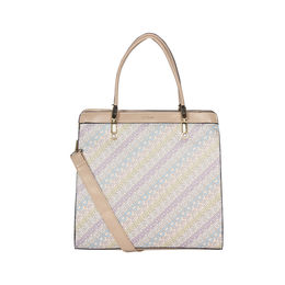 ESBEDA Printed Pattern Logo font handbag For Women,  beige