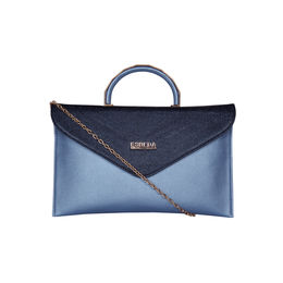 ESBEDA Small Saddle Envelope Armbag For Women,  blue