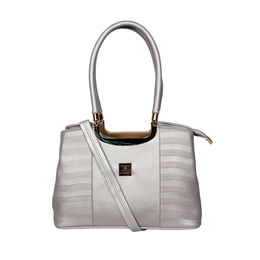 ESBEDA Emboss Glossy handbag-A00100028-14/5869,  silver