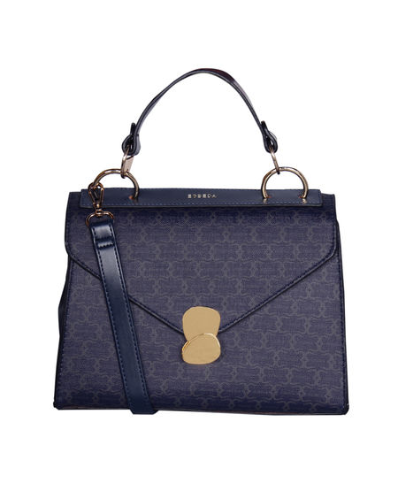 ESBEDA Printed Pattern Signature Logo handbag For Women,  dark blue