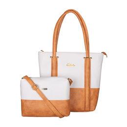 ESBEDA BIG Size Vinyl Combo Handbag with Slingbag For Women-B00100001-2,   orange