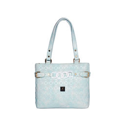 ESBEDA Emboss Dotmatrix quilted Handbag For Women,  light blue