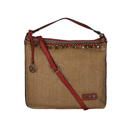 ESBEDA BIG Size Jute Tote Bag For Women,  red