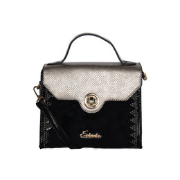 ESBEDA Solid Pattern Fontanelli Glitter handbag For Womens,  black