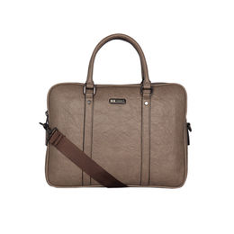 ESBEDA Solid Pattern Paperish Laptop Bag,  khaki