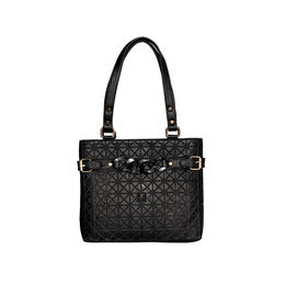 ESBEDA Emboss Dotmatrix quilted Handbag For Women,  black