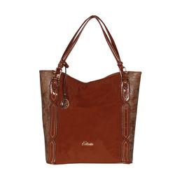 ESBEDA Solid Pattern Chevron Hobo Handbag For Women,  tan