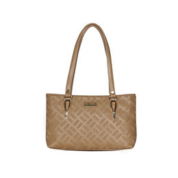 ESBEDA Embossed Textured Handbag For Women,  beige
