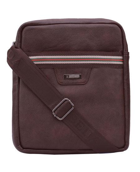 ESBEDA Solid Pattern Drymilk Stripe Slingbag 001005034,  brown