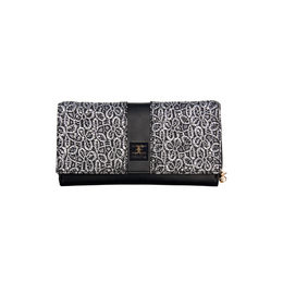 ESBEDA Solid Pattern Zardosi Wallet For Women,  black