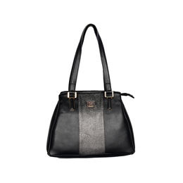 ESBEDA Solid Pattern Handbag For Women,  black