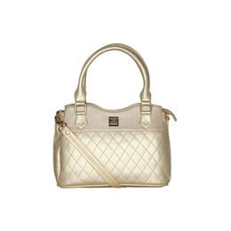 ESBEDA Quilted Pattern Handbag For Women,  gold