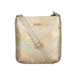 ESBEDA Medium Size Chunky Glitter Slingbag For Womens-A00100042-41,  gold