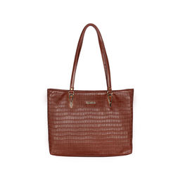 ESBEDA Embossed Textured Handbag For Women,  dark tan