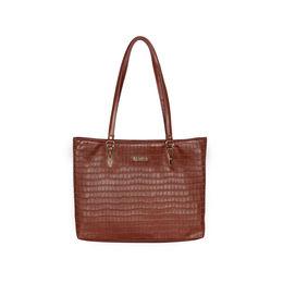 ESBEDA Embossed Textured Handbag For Women,  dark tan