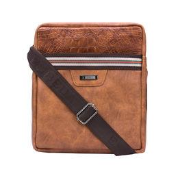 ESBEDA Solid Pattern Croco Stripe Slingbag 001005033,  brown
