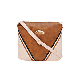 ESBEDA LADIES SLING BAG AD15082017,  tan-pink