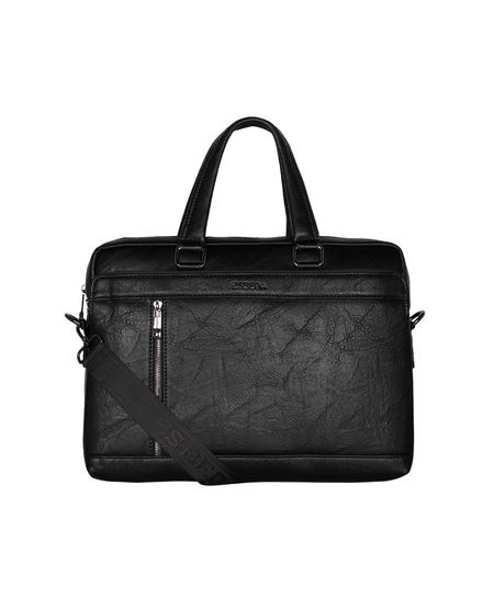 ESBEDA Solid pattern Grain Laptop Bag,  black