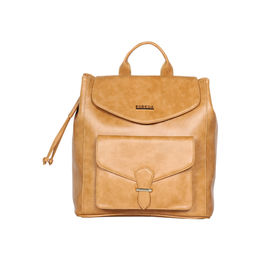 ESBEDA Magnet Closure Taslan Covertible Backpack For Women,  mustard