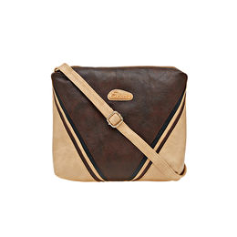 ESBEDA LADIES SLING BAG AD15082017,  d brown-beige