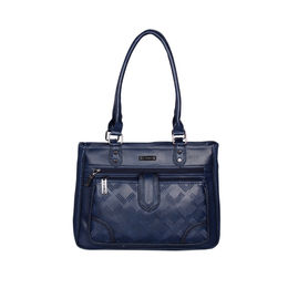 ESBEDA Solid Pattern Blissy Handbag For Women,  blue
