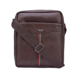ESBEDA Solid Pattern Drymilk Stripe Slingbag 001005030,  brown