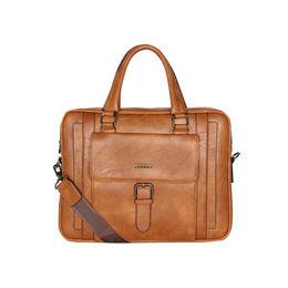 ESBEDA Solid pattern ESBEDA Grain Laptop Bag,  tan