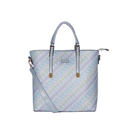 ESBEDA Printed Pattern Logo font handbag For Women,  blue