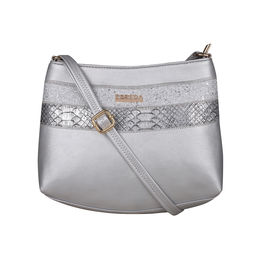 ESBEDA Medium Size Chunky Glitter Slingbag For Womens-A00100042-40,  silver