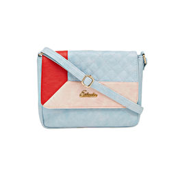 ESBEDA LADIES SLING BAG AZ10082017,  l blue-pink-red
