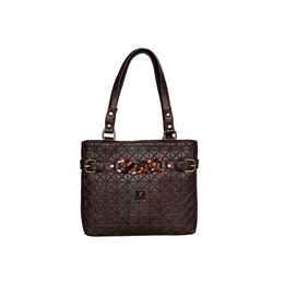 ESBEDA Emboss Dotmatrix quilted Handbag For Women,  brown