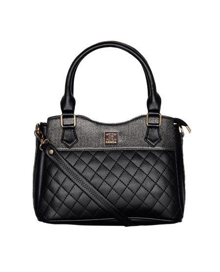 ESBEDA Quilted Pattern Handbag For Women,  black