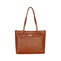 ESBEDA Embossed Textured Handbag For Women,  light tan