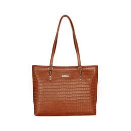 ESBEDA Embossed Textured Handbag For Women,  light tan
