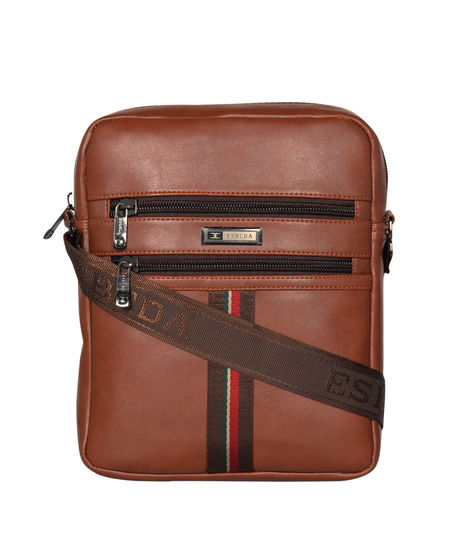 ESBEDA Solid Rodeo Crossbody Sling bag For Men,  tan