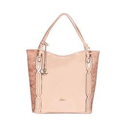 ESBEDA Solid Pattern Chevron Hobo Handbag For Women,  pink