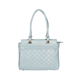 ESBEDA Solid Pattern Textured Handbag For Women,  light blue