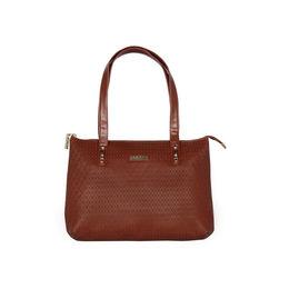 ESBEDA Embossed Textured Handbag For Women,  tan
