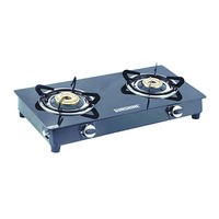 Sunshine Smart Dlx MS Double Burner Toughened Glass Gas Stove, lpg, manual