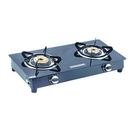 Sunshine Smart Dlx MS Double Burner Toughened Glass Gas Stove