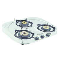 Sunshine Skytech 'C' Three Burner Stainless Steel Gas Stove, lpg, manual