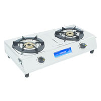 Sunshine Magic Dlx Double Burner Stainless Steel Gas Stove, lpg, manual