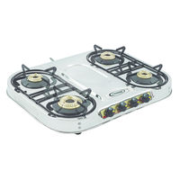 Sunshine Skytech Plus Four Burner Stainless Steel Gas Stove, lpg, manual